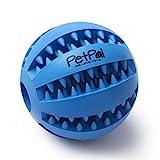 PetPäl Hundeball mit Zahnpflege-Funktion Noppen Hundespielzeug aus Naturkautschuk -...