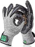 DR Zoo Gr. M Paar Fellpflegehandschuh zur Fellpflege durch Handschuh für Hund, Katze und...