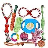 FONPOO Hundespielzeug, Hergestellt aus Natürlicher Baumwolle ungiftig und geruchlos...